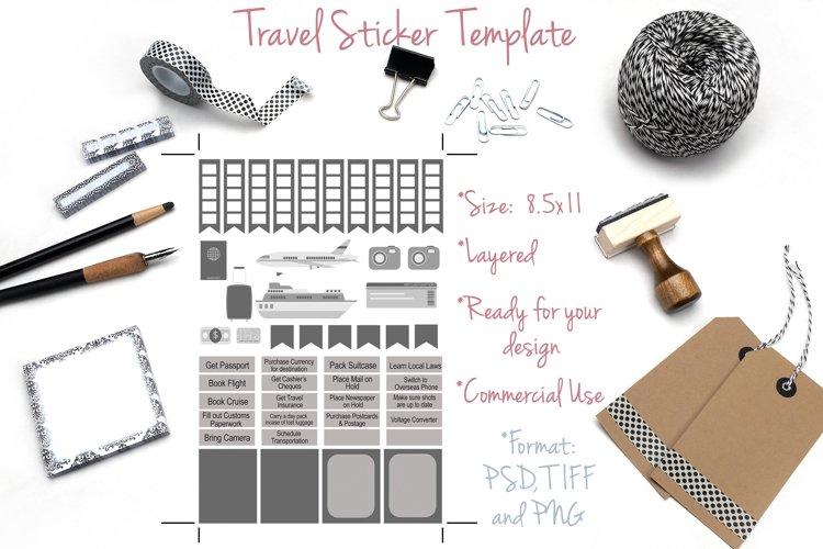 DIY - Travel Sticker Templates - PSD/TIF -