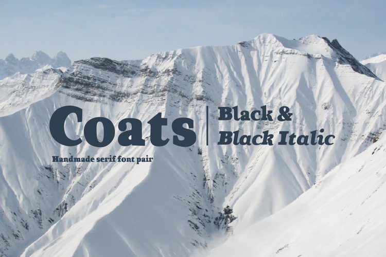 Coats Black & Coats Black Italic example image 1