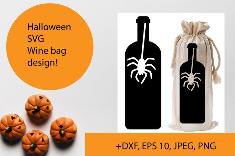 Halloween wine bag SVG design example image 1