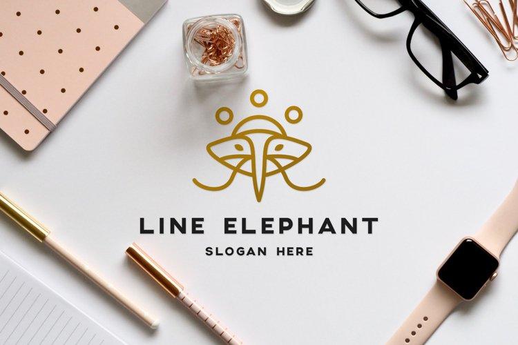modern luxury logo design of elephant animal with outline