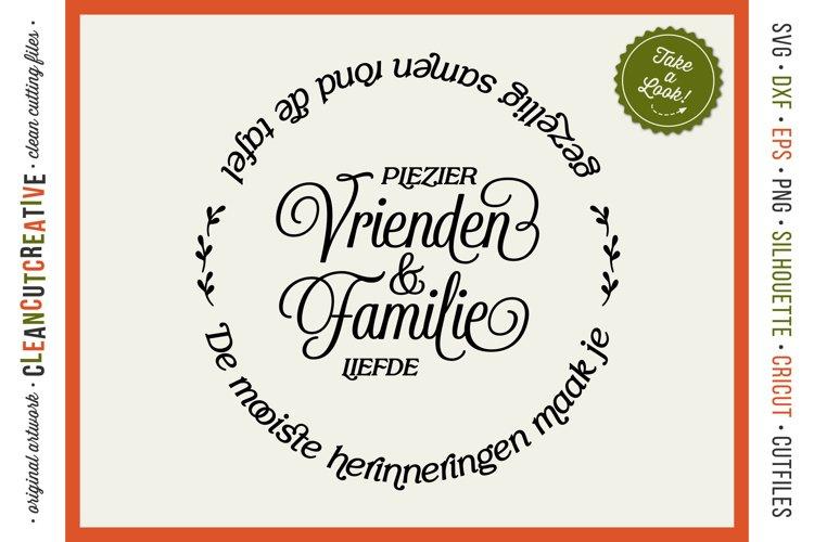 Vrienden & Familie - Mooiste Herinneringen Rond de Tafel SVG