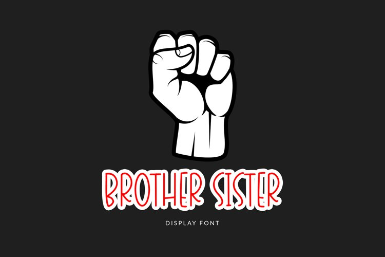 Brother Sister Display Font example image 1
