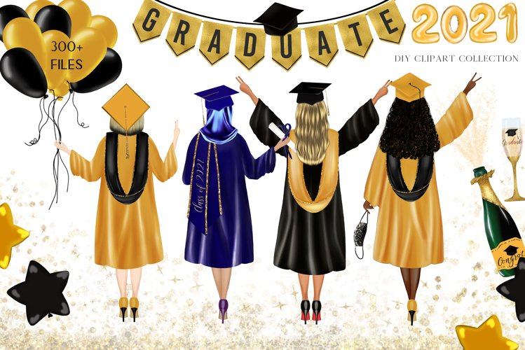 Graduation Clipart, DIY portrait, Graduations Hat