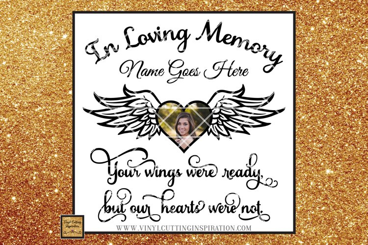 Angel Wings Svg Heart Svg In Loving Memory Sympathy svg dxf example image 1