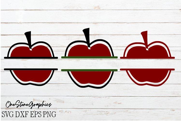 Apple split monogram svg,monograms svg,apple monogram svg example image 1