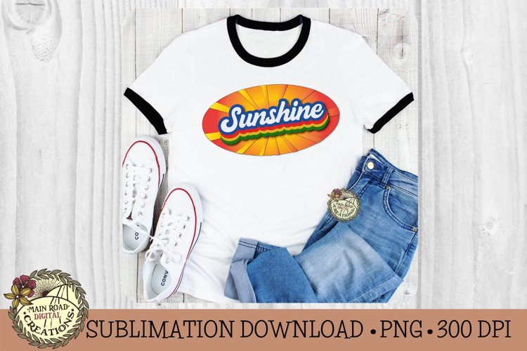 Retro Stacked Summer Sublimation-Vintage Sublimation Design example image 1