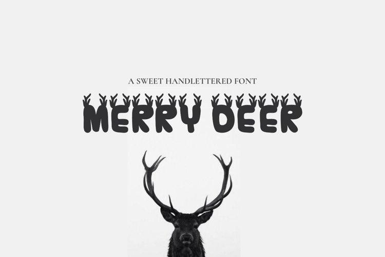 MerryDeer - Christmas font example image 1