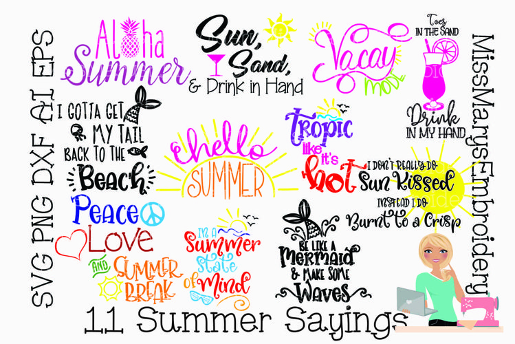 Summer Saying Bundle | SVG Bundle | Summer SVG | Beach SVG example image 1