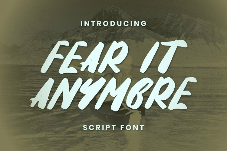 Web Font Fear It Anymore Font example image 1