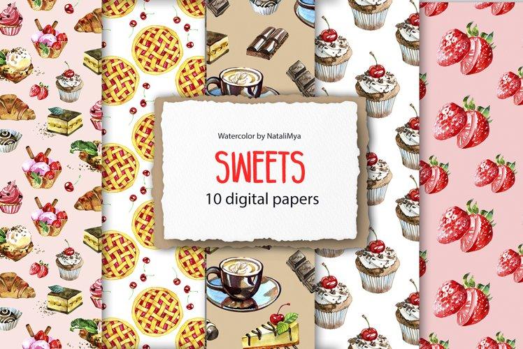 Sweet digital paper pack example image 1