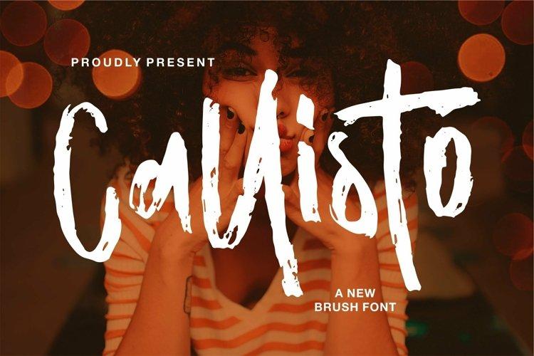 Web Font Callisto - A New Brush Font example image 1