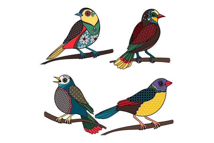 Hand drawn ornamental birds example image 1