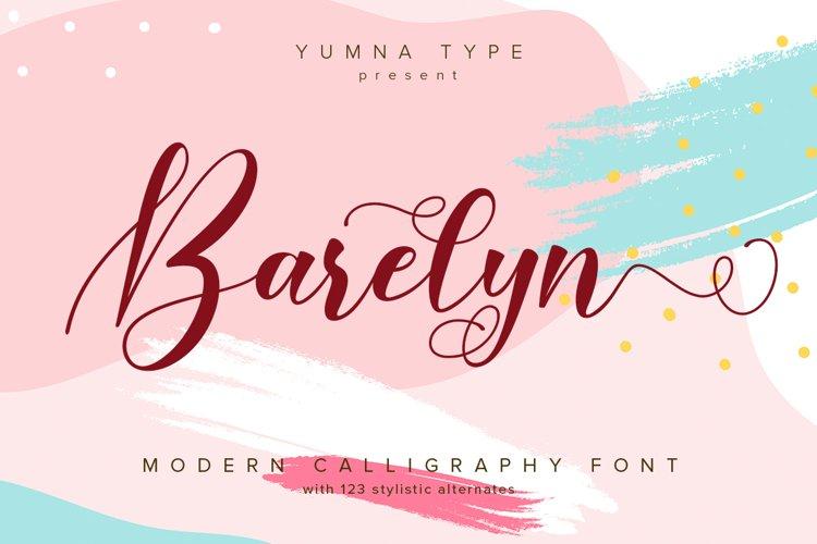 Barelyn Script example image 1