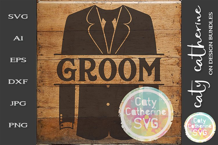 Wedding Party Male Roles Tuxedo Groom SVG example image 1