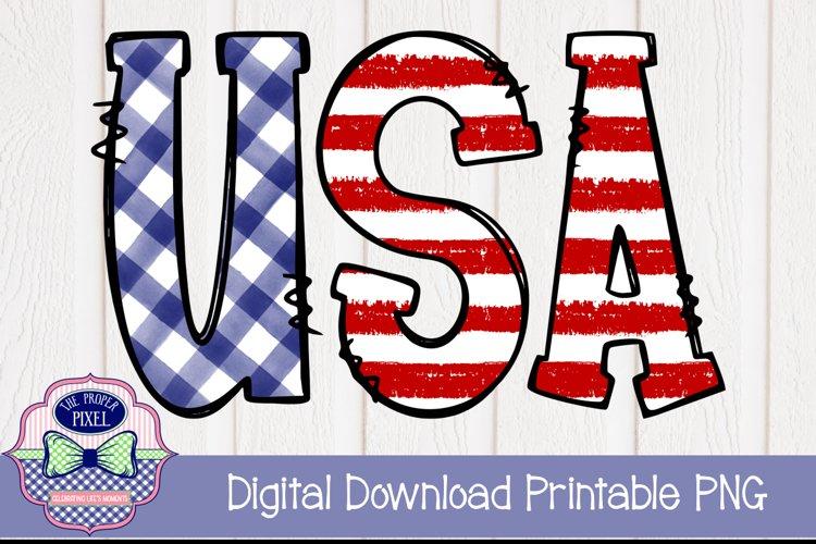 Boys USA Doodle Letter Design