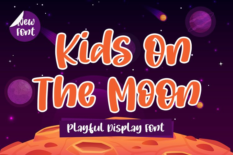 Playful Display Font - Kids On The Moon example image 1