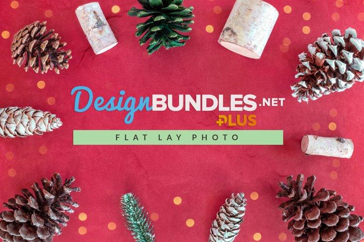 Christmas Flat Lay   Pinecones example image 1
