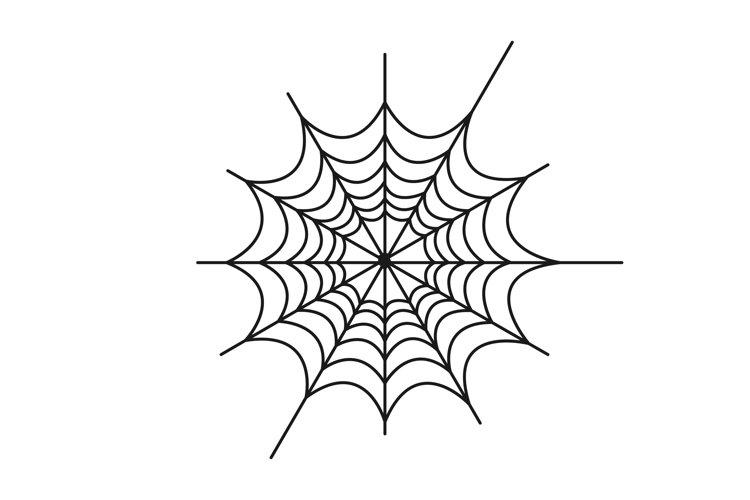 Creepy spider web vector illustration example image 1