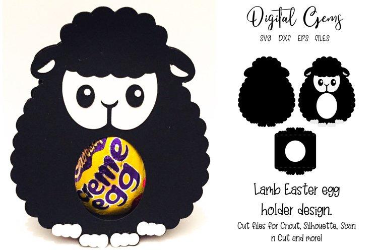 Lamb Easter egg holder design SVG / DXF / EPS files example image 1