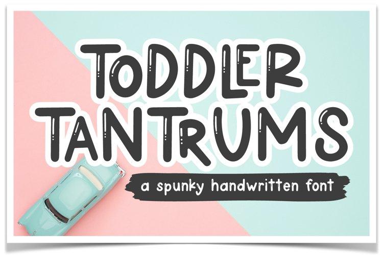 Toddler Tantrums Font