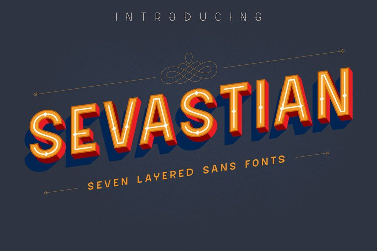 Sevastian - Seven Layered Typeface example image 1
