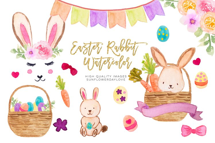 Happy easter clipart, Spring Bunnies clipart
