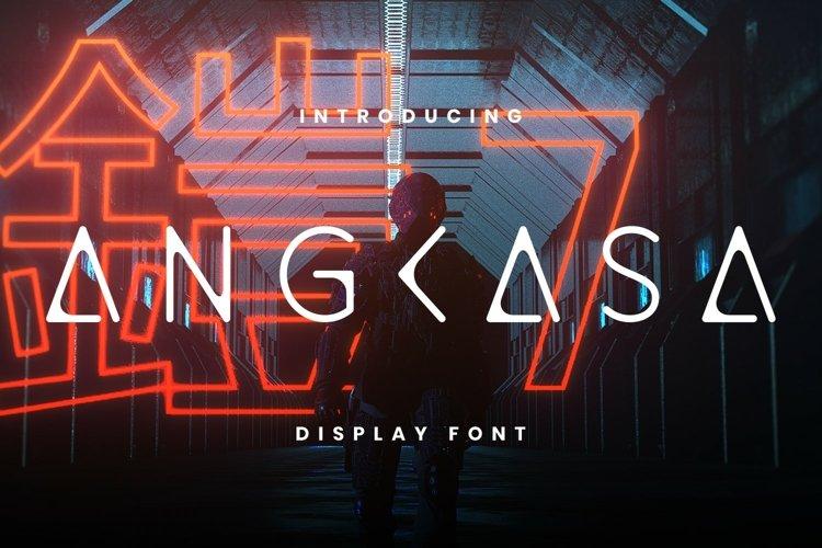 Angkasa Font example image 1