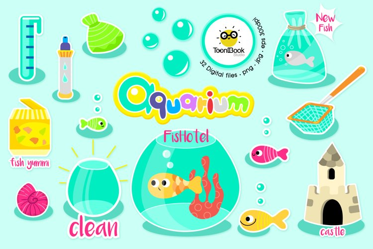 Fish Tank Clipart example image 1