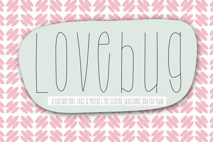 Lovebug Font, Scoring, Sketching, Foil Quill