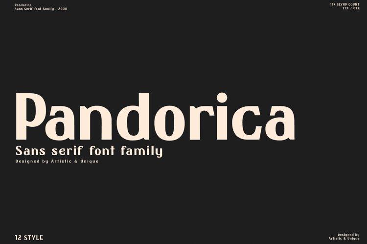 Pandorica - Sans serif font family example image 1