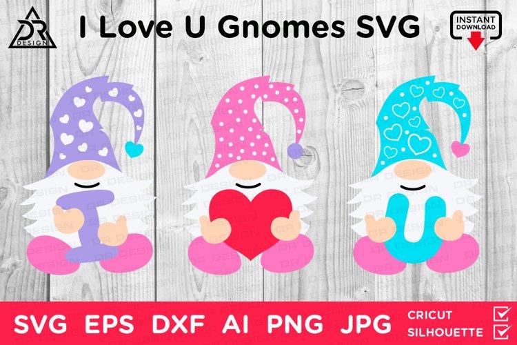 I Love U Valentines Gnomes SVG