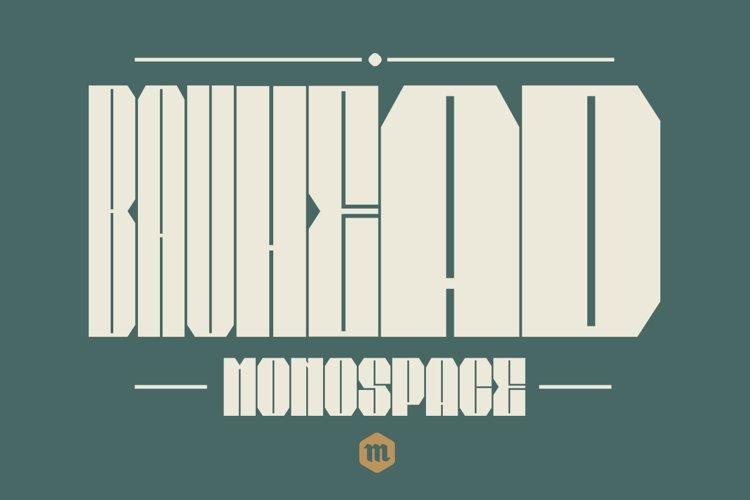 Bauhead Typeface   Font example image 1
