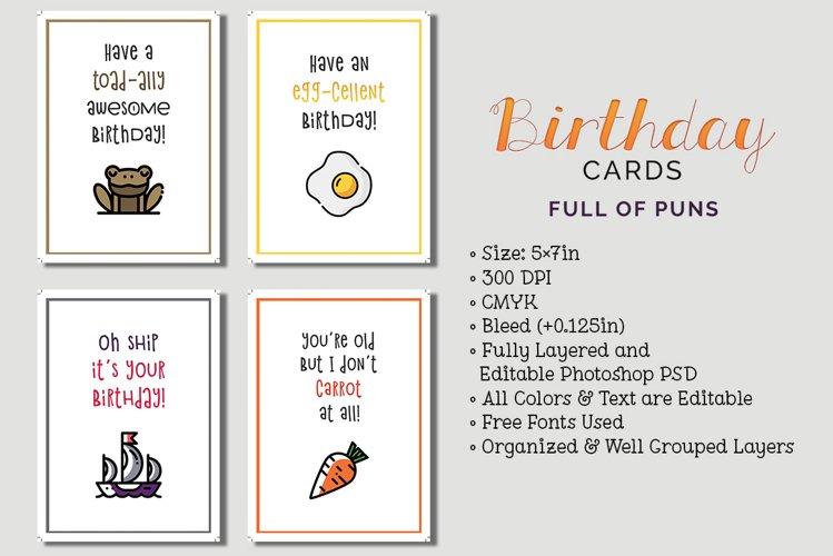 8 Birthday Cards example image 1