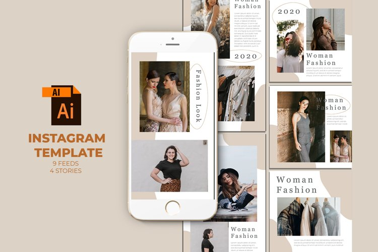 Fashion Instagram Templates Vector example image 1