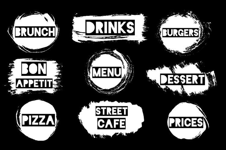 Text menu element design