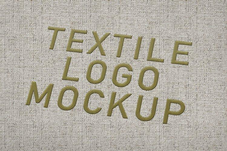 Textile Logo Mockup example image 1