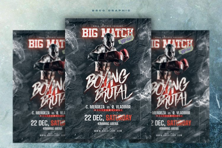 Boxing Brutal Flyer example image 1