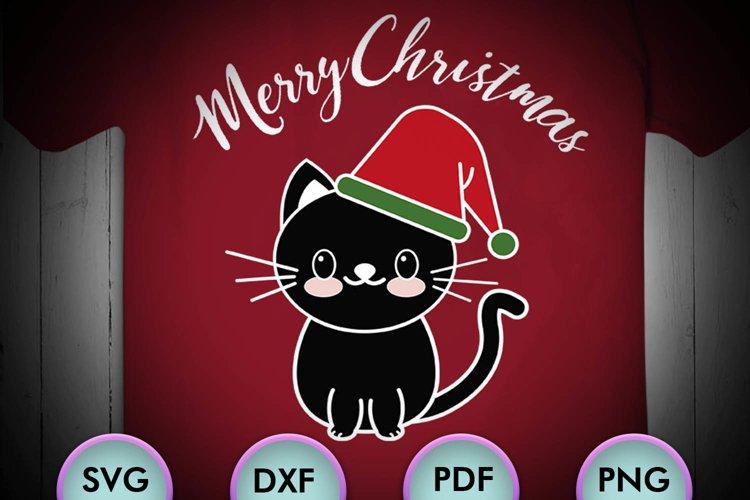 CAT SVG XMAS, Cat Christmas, black cat, cat happy christmas