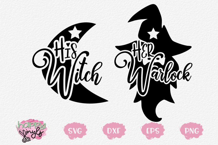 His Witch Her Warlock Couple Designs - A Halloween SVG