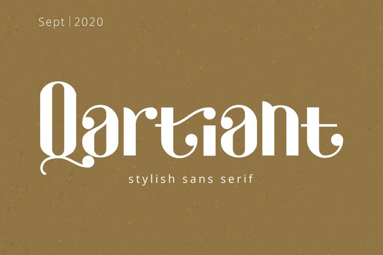 Qartiant - Stylish Sans Serif example image 1