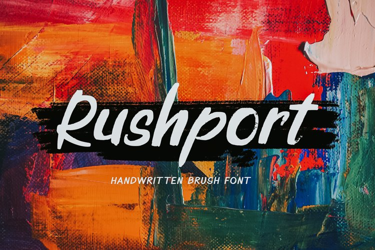 Rushport Handwritten Brush Font