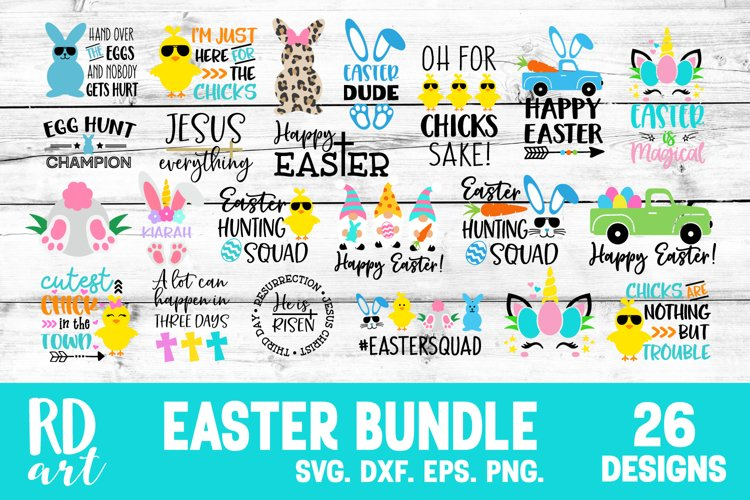Easter Bundle SVG, DXF, PNG, EPS