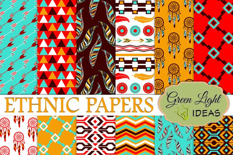 Ethnic Digital Papers
