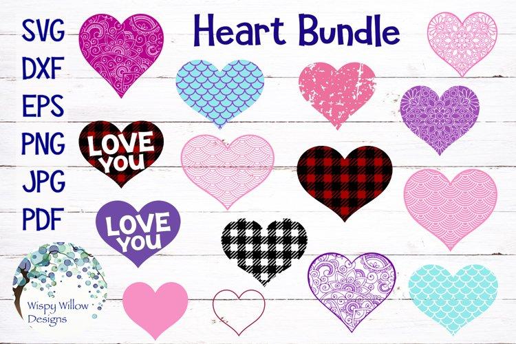 Heart Bundle | Plaid, Mermaid Scales, Mandala, Zentangle