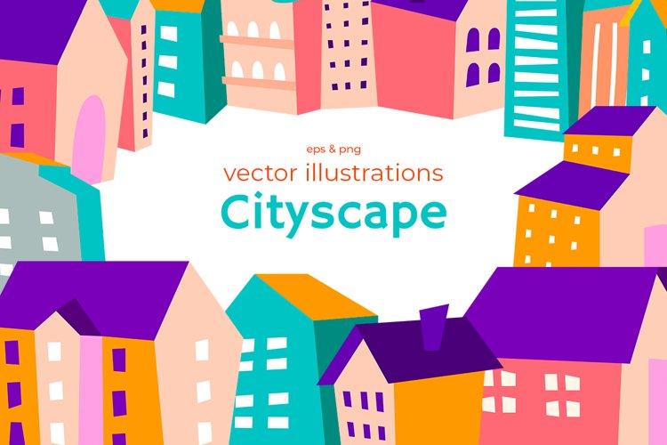 Colorfull cityscape scene creator