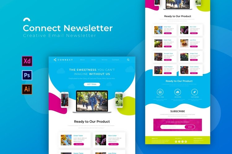 Connect | Email Newsletter Template example image 1