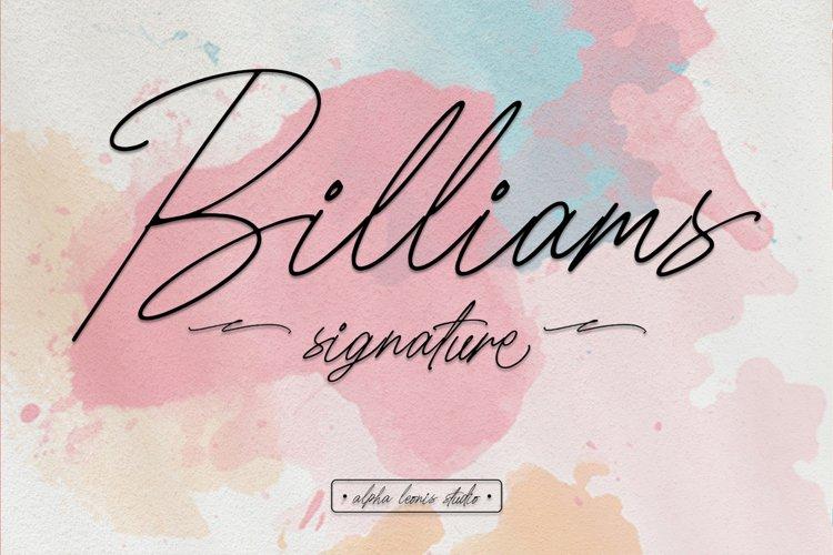 Billiams Signature - Modern Script