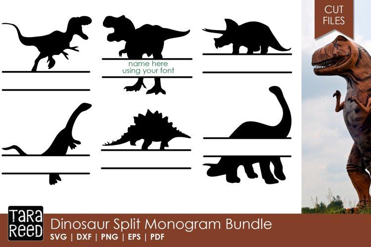 Dinosaur Split Monogram Bundle example image 1