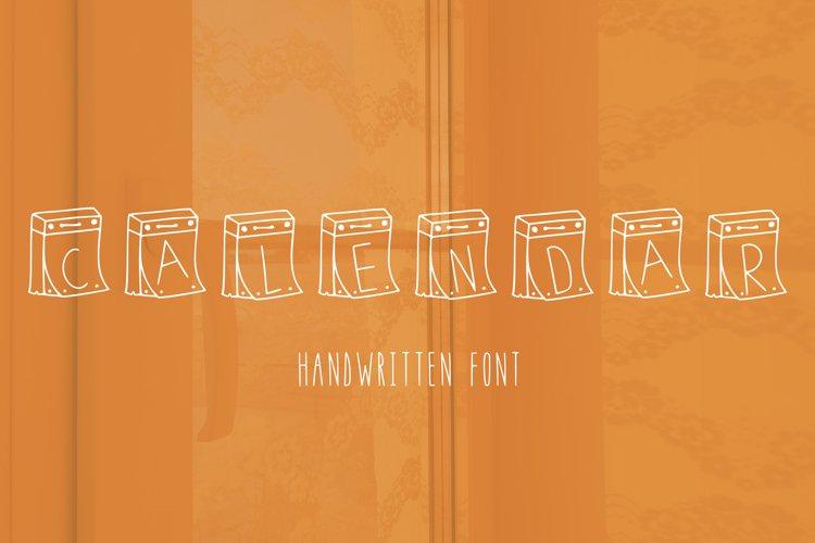 Calendar handwritten font example image 1
