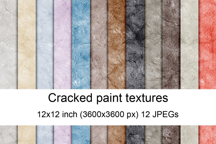 Cracked paint textures example